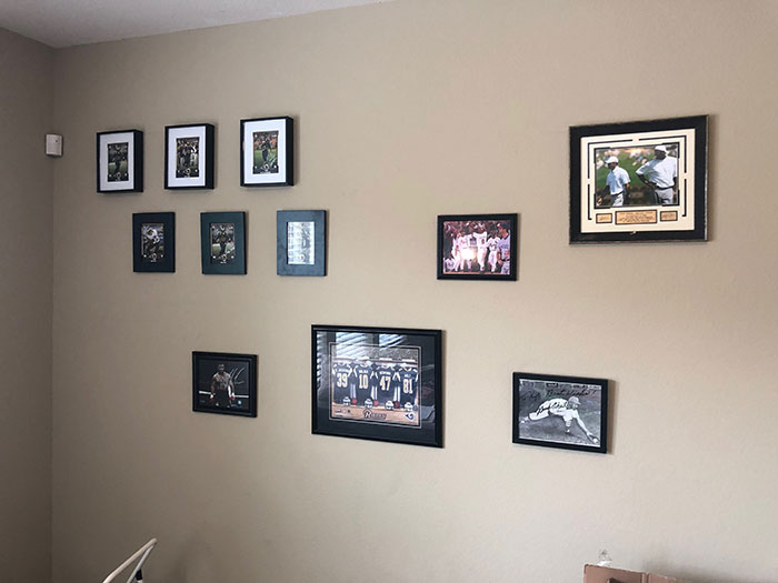 12 Sports Photos Professionally Hung On Wall