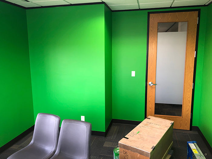 Office Painted Green (green screen)
