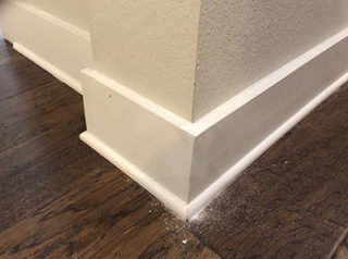 Coner-(Edge)--Of-Baseboard-Repaired-With-Joint-Compound-And-Sanding