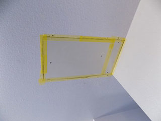 Empty Hole In The Ceiling, Filled With New Drywall