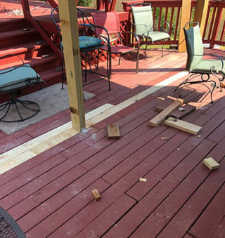 Replace Weather Damaged Decking Boards